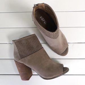 Report Faux Suede Zip Up Ankle Booties 8